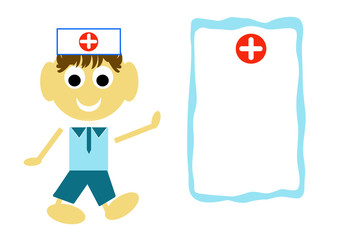 Smiling Confident Doctor. Cartoon illustration