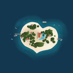 ILE Paradis coeur