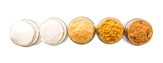Brown sugar, muscovado sugar, white refine sugar, coconut sugar