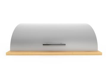 Modern steel bread bin