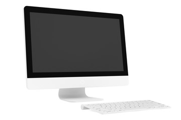 Desktop computer with wireless keyboard