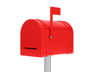 Closed red mail box