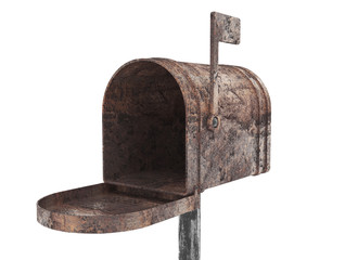 Old metal mail box