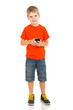 boy holding smart phone