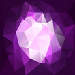 Violet diamond triangles background