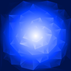 Blue rose with triangles