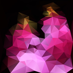 Pink shape made from triangles background