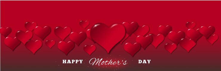 Illustration of hearts for a Mother's Day