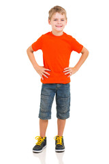 cute boy full length portrait