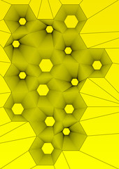 abstract hexagonal wallpaper on yellow background