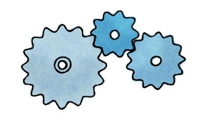 Cloud computing concept, hand drawn (loopable)