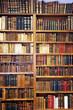 Leinwanddruck Bild - Old books, library