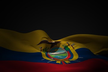 Composite image of ecuador flag waving