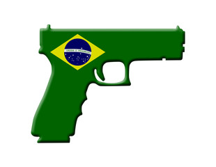 Handgun weapon laws in Brazil