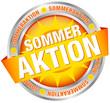 """Button Banner """"Sommeraktion"""" gelb/silber"""