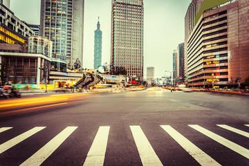 avenue in modern city
