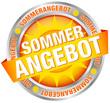 """Button Banner """"Sommerangebot"""" gelb/silber"""