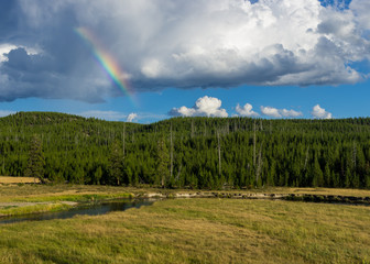 Rainbow over the Gibbon River