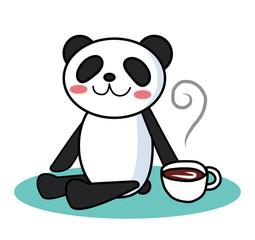 パンダのほっとティータイム