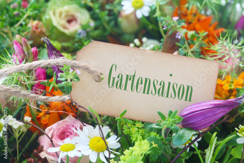 canvas print picture Gartensaison