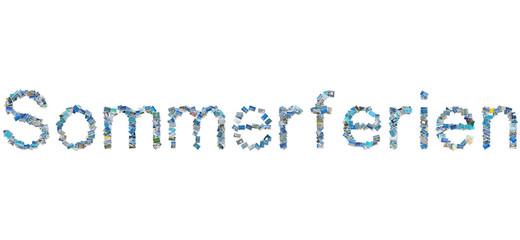 """Wort """"Sommerferien"""" in Bildern"""