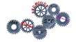 Abstract steel wheel cogs seo conception
