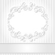 white background with floral frame