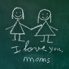 I love you, moms