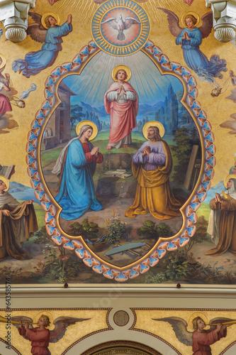 Vienna - Holy Family. Big fresco from Carmelites church