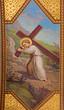 Vienna - Fresco of symbolic scene of little Jesus with the cross