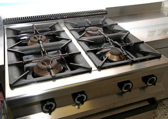 four gas stove industrial kitchen