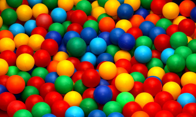 balls for play fun in a swimming pool