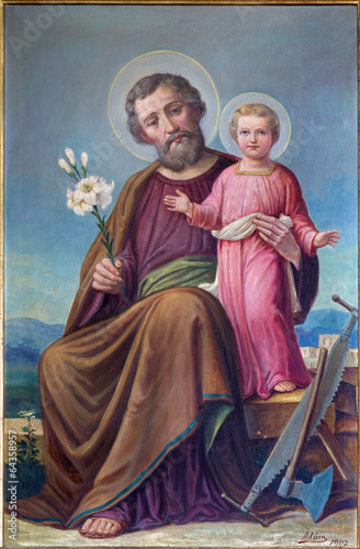Plakat Roznava - Paint of St. Joseph in the cathedral