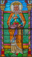 Roznava - St. Elizabeth of Hungary from windowpane of cathedral