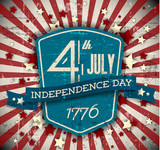 Vector independence day badge / poster - 64359779