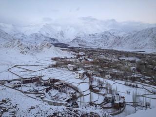 snow in Leh Ladakh