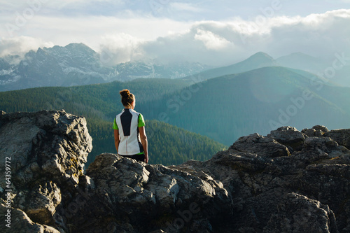 Mountain ladscape with girl © pab_map