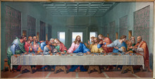 "Постер, картина, фотообои ""Vienna - Mosaic of Last supper - copy Leonardo da Vinci"""