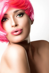 Fashionable Pink Hairstyle