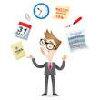 Geschäftsmann, Zeitmanagement, Zeitplan, Produktivität