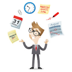 Businessman, time management, calendar, schedule, deadline