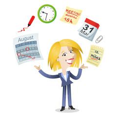 Geschäftsfrau, Zeitmanagement, Zeitplan, Produktivität