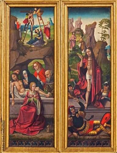 Vienna - Burial and Resurrection of Jesus scene
