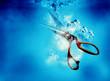 scissors water