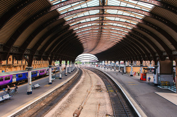 train station in York, UK