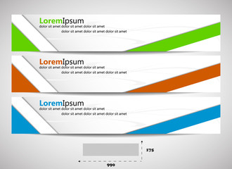 Web header with presice dimensions - template