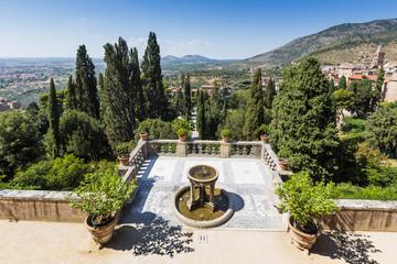 villa d'este park in Tivoli, Lazio, Italy