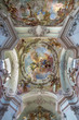 Vienna - cupola of Baroque church Maria Treu