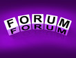 Forum Blocks Show Advice or Social Media or Conference