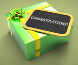Congratulations Present Card Shows Accomplishments And Achieveme poster